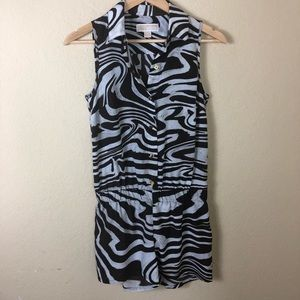 Michael Kors animal print sleeveless romper XS